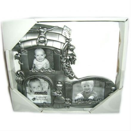 3 Openings Pewter Photo Frame